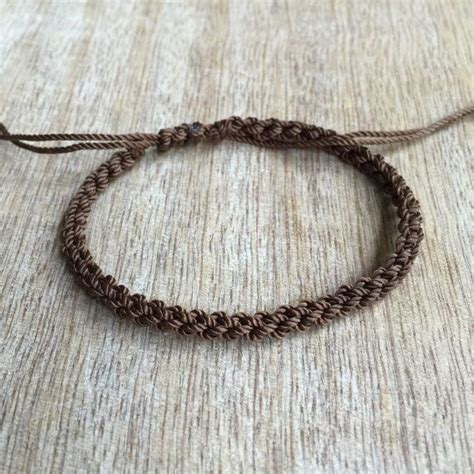 Steunk Vire Bracelet Turquoise Gelang brown anklet waterproof anklet braided anklet macrame by fanfarria i like it