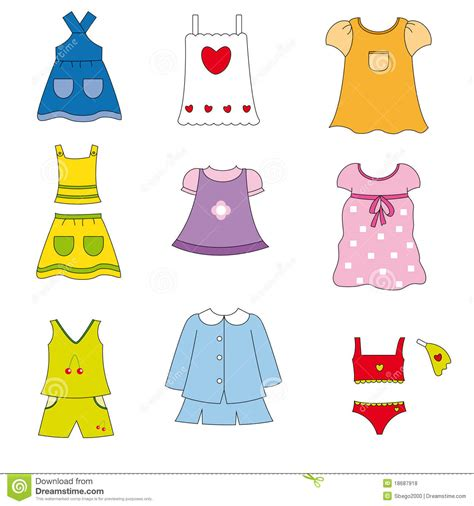 summer clipart clothes pencil and in color summer