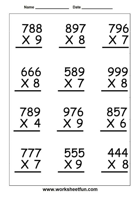 printable long multiplication worksheets 133 best images about 5th grade math on pinterest 4th