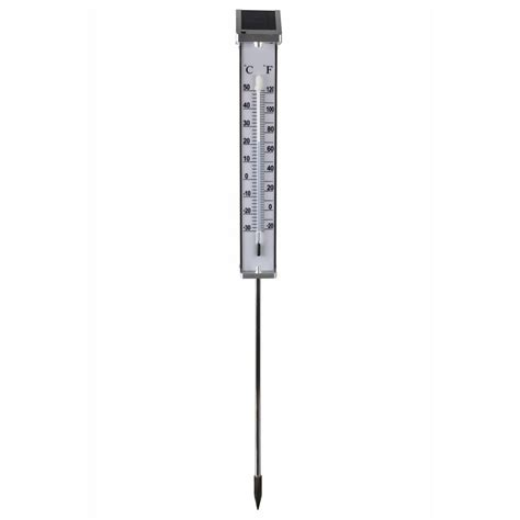 Termometer Outdoor vidaxl co uk nature thermometer outdoor with solar powered led light 6080066