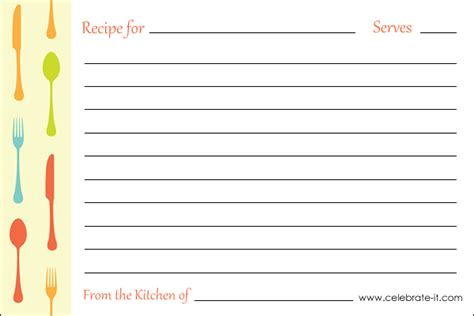 free printable recipe page template 301 moved permanently