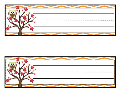 printable autumn name tags learning with a happy heart free fall themed owl name