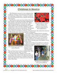 christmas in mexico worksheet education com