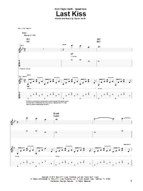 last kiss tutorial guitar last kiss sheet music