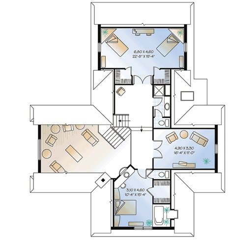 bungalow with twin porches 21488dr 1st floor master suite cad available canadian cottage charming country cottage 2106dr architectural designs