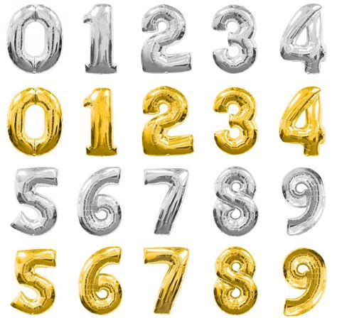Number Foil Balloon foil number balloons 0 to 9 masons home decor