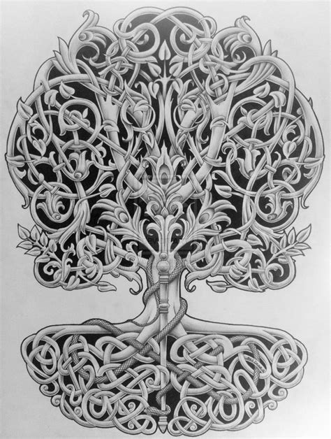 tattoo designs tree of life tree of with rod and snake by design on