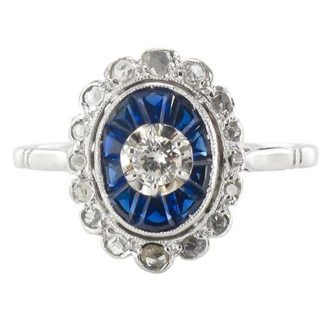 and sapphire deco ring deco sapphire and ring for sale at 1stdibs
