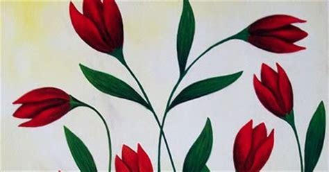 Lukisan Set Bunga Dekoratif Hijau jual lukisan bunga 70x90cm mb 010 milieart yogyakarta