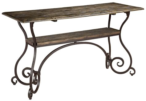 Artisans Table by Artisans Shoppe Black Forest Sofa Table 90 3054 Furniture