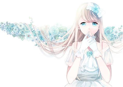wallpaper cute anime girl cute anime girl blue wallpaper dreamlovewallpapers