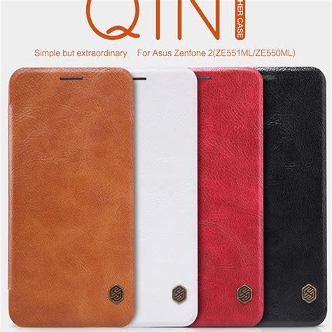 Nillkin Flip Qin Leather Asus Zenfone 2 Ze551mlze550ml nillkin qin series wallet flip leather for asus zenfone 2 ze551ml 5 5 quot genuine flip leather