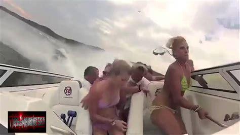 boat crash video turn down for what bikini girls boat crash ft quot turn down for what quot remix