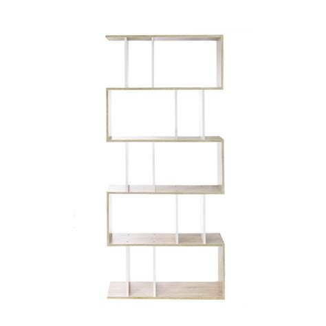 5 Tier Shelf Unit by 5 Tier Display Book Storage Shelf Unit White Brown