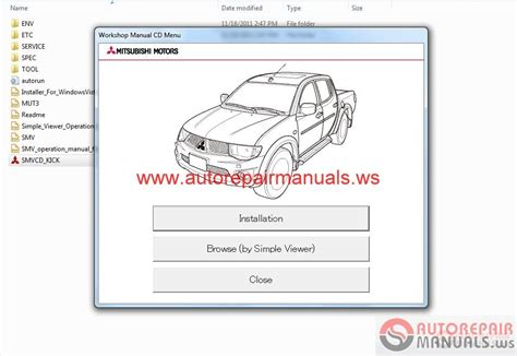 mitsubishi l200 2012 workshop manual auto repair manual