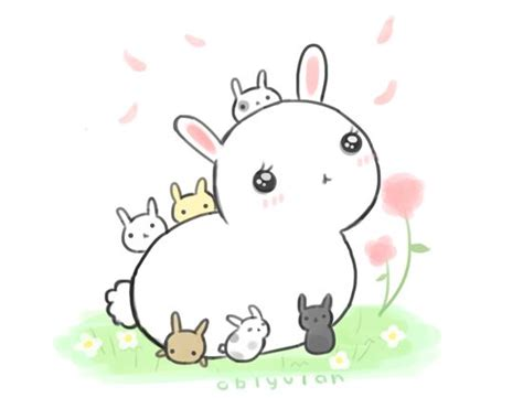 how to draw a doodle bunny by pyon pyon http oblyvian tagged doodles