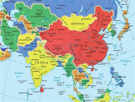 asia map china drben net asia and oceania travel booking guide maps