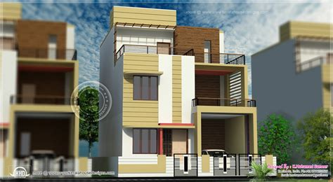 3 story house plan design in 2626 sq kerala home