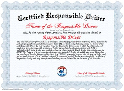 safe driving certificate template driving licence template ideas resume ideas
