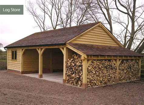 cheap log store uk how to build a shed foundation free