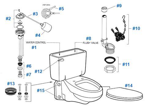 toilet repair parts diagram american standard toilet repair parts for glenwall series
