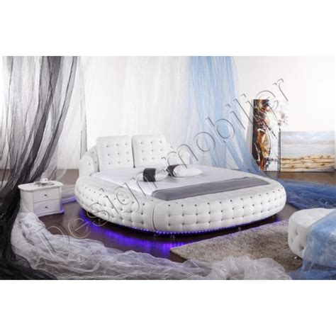 lit design rond lit rond design avec led