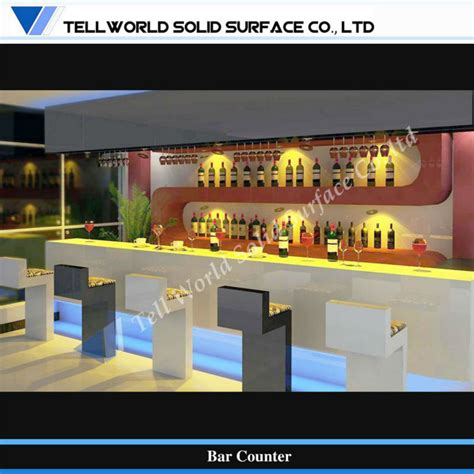 Small Bar Counter Artificial Marble Counter Home Bar Tw Modern Design Small Home Bar Counter Artificial Marble