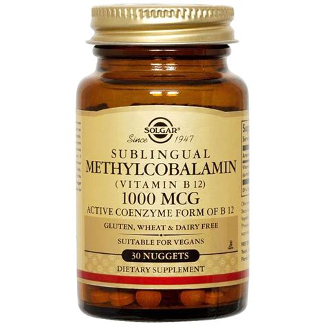 Methylcobalamin Also Search For Methylcobalamin Vitamin B12 5000 Mcg 60 Nuggets Solgar