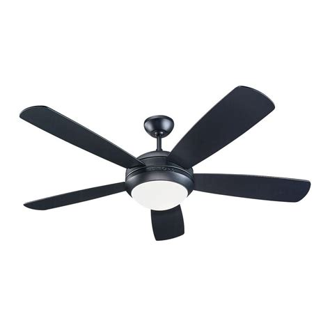 black ceiling fan monte carlo discus 52 in matte black ceiling fan 5di52bkd