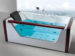 baignoire baln 233 o massante bois verre acrylique