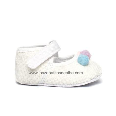 Tas Blanca By comprar merceditas bebe blanca suela modelo pompones baratas