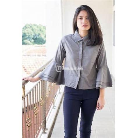 Baju Atasan Murah 4 baju atasan wanita zwetta trompet crop katun terbaru harga murah bandung dijual tribun