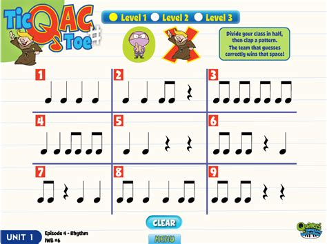 rhythm pattern games the gallery for gt kids listening to teacher clipart
