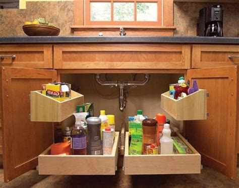 kitchen cabinet organizing systems 17 best ideas about under kitchen sinks on pinterest