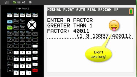 calculator factor factoring numbers on your calculator ti 84 ti nspire youtube