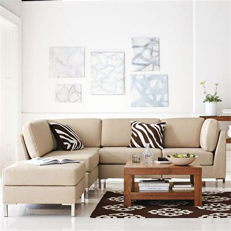 west elm armless sectional armless sectional modern sectional sofas by west elm