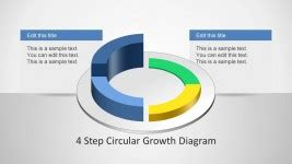 4 step circular growth diagram for powerpoint slidemodel diagrams for powerpoint