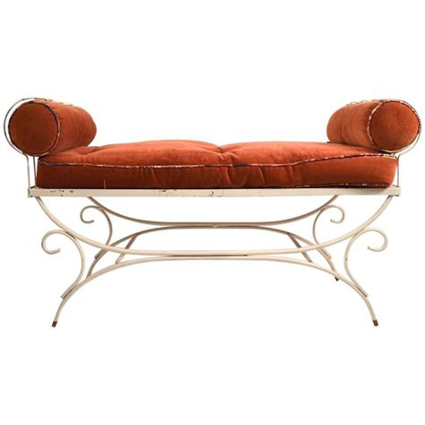 wrought iron bench for sale wrought iron window bench for sale at 1stdibs