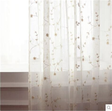 sheer curtains with embroidered flowers 280cm hot sale romantic american pastoral embroidered