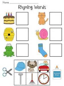 Resume Rhyming Words Rhyming Worksheet Kindergarten Abitlikethis