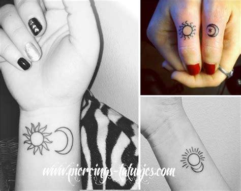 imagenes del sol y la luna para tatuar tatuajes peque 241 os y minimalistas significados fotos e ideas