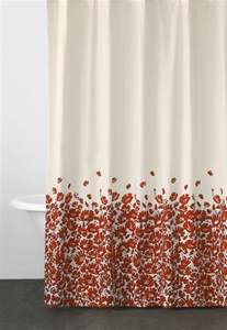 Red Floral Shower Curtain Dkny Wildflower Field Fabric Shower Curtain