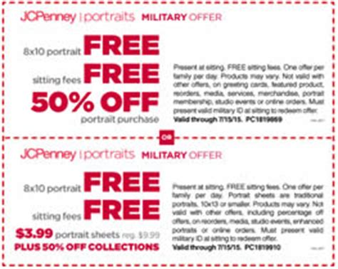 jcpenney portrait coupons printable no sitting fee photos 171 i crave freebies