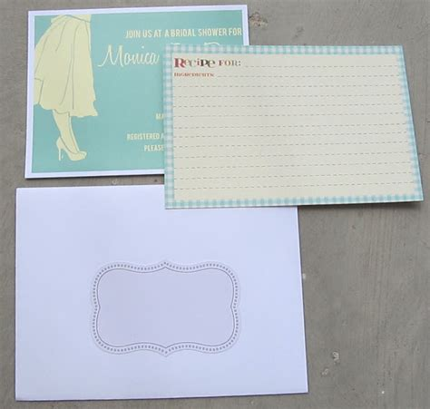 blank recipe cards michaels bridal shower invites are in the mail bonita bride