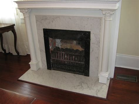 Fireplace: Carrera marble   Traditional   Living Room   New Orleans   by LaBruyere Stone