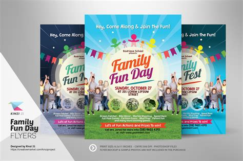 family day flyer template family day flyers flyer templates on creative market