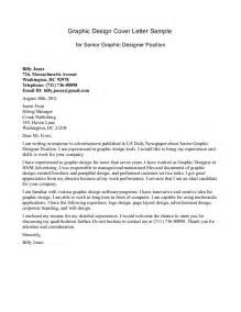 Cover Letter For Graphic Design Application by Letter Sle Application Letter For Graphic Designer