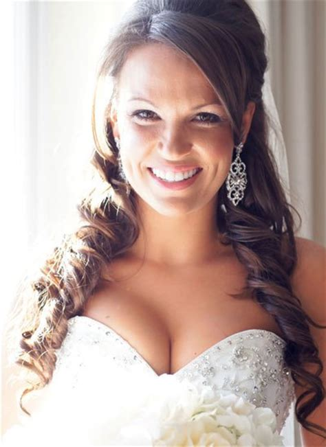 Wedding Hairstyles With Ringlets by Half Up Hairdo With Ringlets Prom Wedding Formal