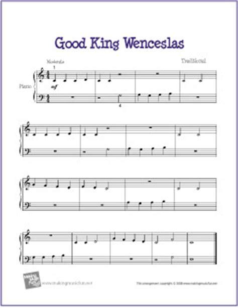 good king wenceslas free easy piano sheet music for good king wenceslas free beginner piano sheet music