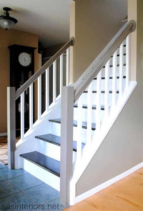 staircase makeover final reveal diy basement pinterest